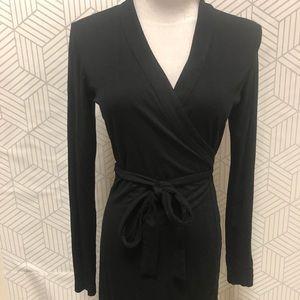 BABATON black wrap dress size small